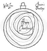 Woodware - Swirly Bauble - Clear Magic Stamp Set - FRS066
